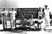The skeleton crew at Communications Base Sidi Yahia in 1977